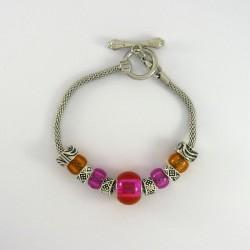 Bracelet style Pandora rose orangé