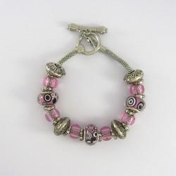 Bracelet style Pandora rose psychédélique