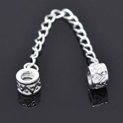 Chaîne de sécurité pour bracelet style Pandora tambour