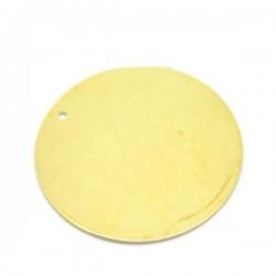 Pendentif cuivre rond plat