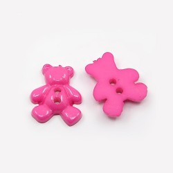 5 boutons forme ours 20 mm