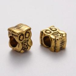 Perle métal chouette (hibou) doré antique Style Pandora
