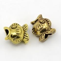 Perle intercalaire de style Pandora poisson doré