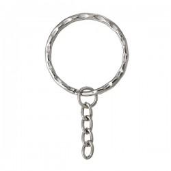 Porte-clef à anneau 30 mm et chaîne