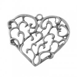 Pendentif coeur argent antique