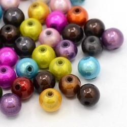 20 perles magiques couleurs assorties 8 mm