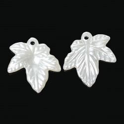 10 feuilles arbre blanc nacré bijou fantaisie, pendentif, bracelet...