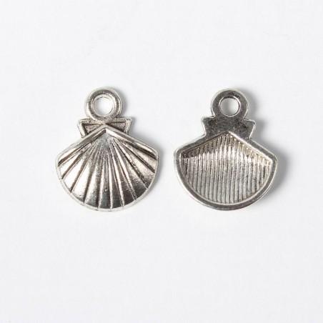 Coquille Saint Jacques métal argent vieilli