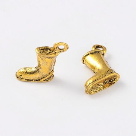 Botte pour charm ou pendentif doré antique