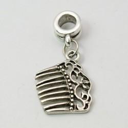 Breloque peigne à cheveux bijou européen, bracelet collier style pandora porte clefs
