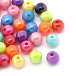 Perles d'entretoise rondes 6 mm