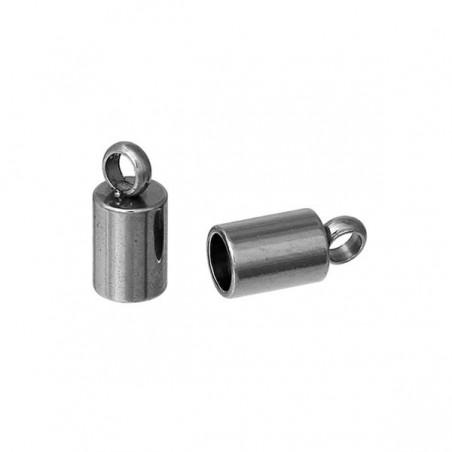 2 Embouts en acier inoxydable à coller pour chaîne serpent ou cuir