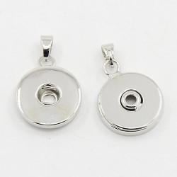 Pendentif snap pour bouton pression en laiton 19 mm pour fabriquer vos bijoux snap pression