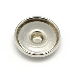 Support cabochon pour bouton snap en laiton 18 mm pour bijou bouton pression snap