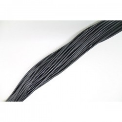 Cordon en cuir rond noir 0.5 mm