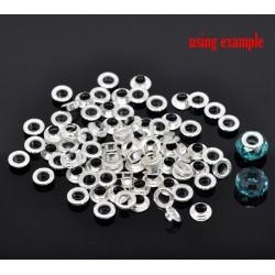 6 paires de noyaux métalliques 9 x 3,5 trou 5.8 mm