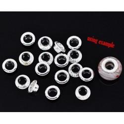 6 paires de noyaux métalliques 9 x 3,6 trou 5.6 mm