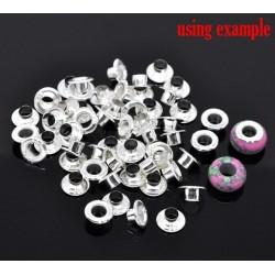 6 paires de noyaux métalliques 10 x 3,8 trou 5.5 mm