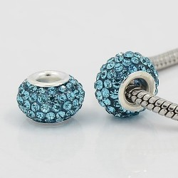 Perle strass turquoise style Pandora