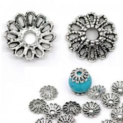 5 ccalottes coupelle forme fleur 12 mm pour perle 14-16 mm