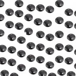 Paillettes sequin noires brillantes 8 mm à facettes à enfiler ou  à coudre