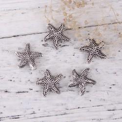 Perle étoile de mer, couleur argent vieilli