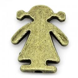 Perle petite fille bronze 16 x 14