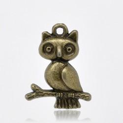 Chouette hibou métal bronze