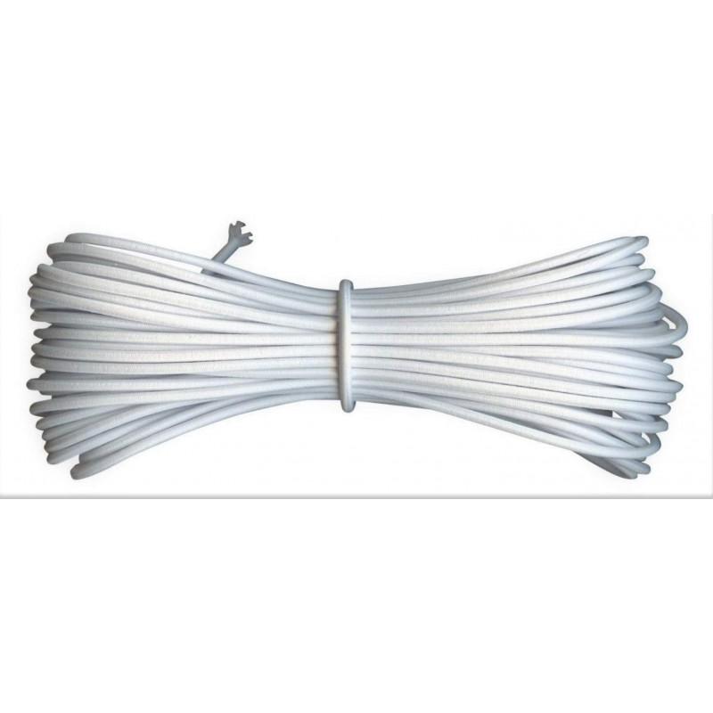 10 m de Fil Elastique rond idéal confection masque blanc 2 mm idéal pour masque facial, couture, chapeau et décor