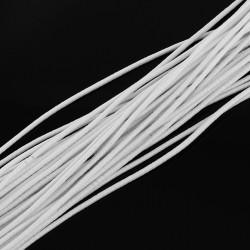 Fil Elastique rond idéal confection masque blanc 2 mm idéal pour masque facial, couture, chapeau et décor, vendu au mètre