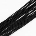 Fil élastique rond idéal confection masque facial, noir 2 mm vendu au mètre, pour couture, chapeaux,