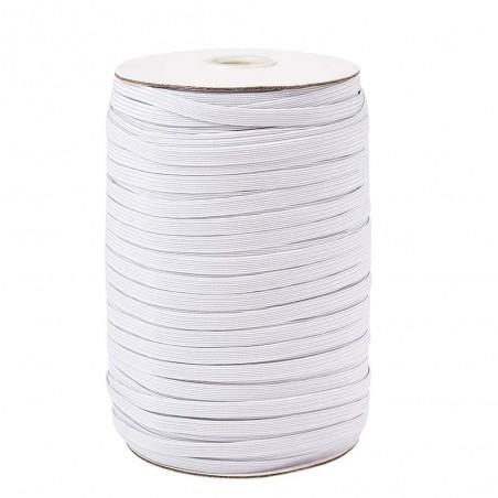 10 m Fil élastique blanc plat 3 mm idéal confection masque protection EN STOCK