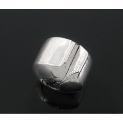 Fermoir stoppeur clip pour bracelet style Pandora lisse couleur argent
