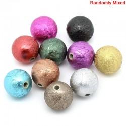 10 Perles intercalaires couleur métallisée irisée mélangées, du plus bel effet avec différentes nuances