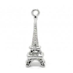 Breloque tour Eiffel, breloque monument historique couleur argent