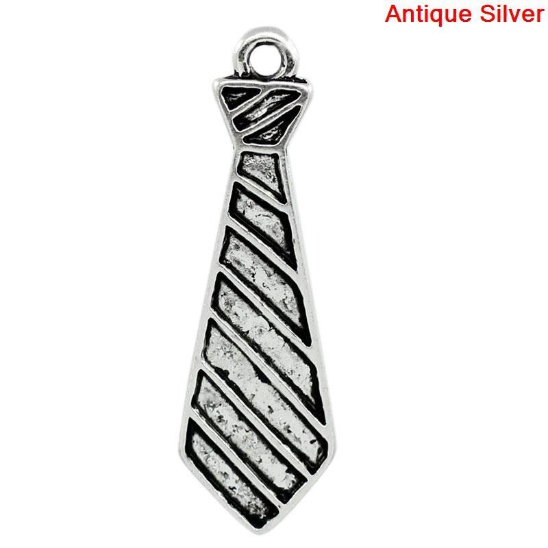 Cravate en breloque, pendentif pour charme cravate