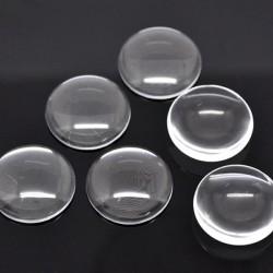 Cabochon verre transparent 25 x 18 mm