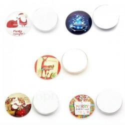 5 cabochons de Noël décoré 25 mm