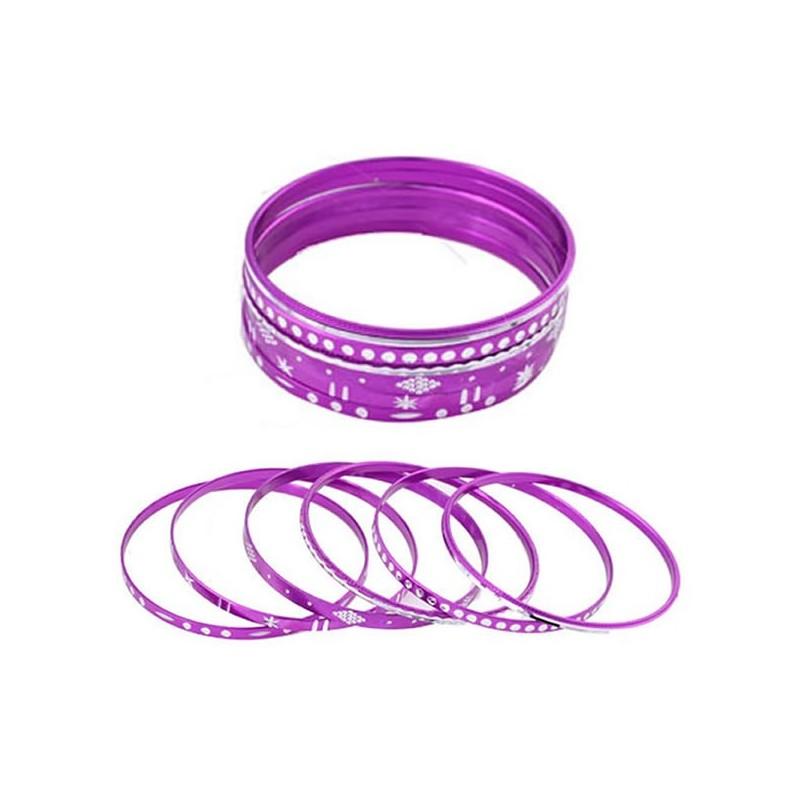 Ensemble de 6 bracelets violet , diamet argent