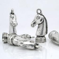 Charms echec - Cavalier (tête de cheval) en pendentif