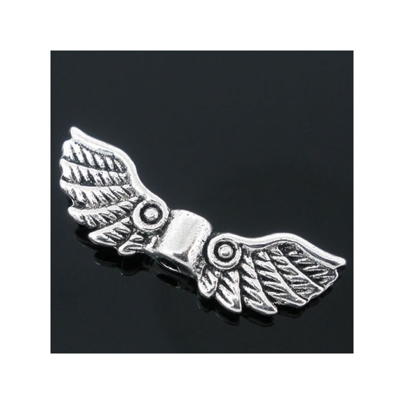 10 ailes ange métal perles métal ailes argent 41 mm Ange Ailes Bijoux m458
