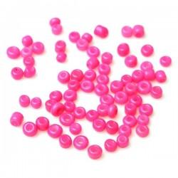 Perles de rocaille ver fluo 6/0 (4 x 3 mm)