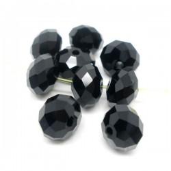 10 Perles rouges craquelées 8 mm en verre
