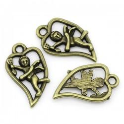 Coeur pendentif bronze