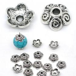 5 calottes coupelle forme fleur 10 mm pour perle 12-16 mm