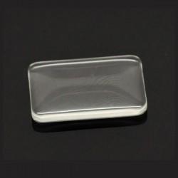 Cabochon verre rectangulaire transparent 33 x 23  mm