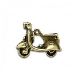 Breloque scooter pendentif couleur bronze