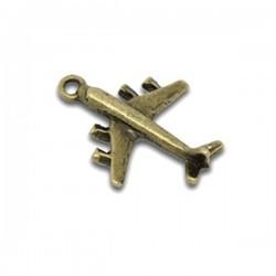 Breloque avion pendentif couleur bronze