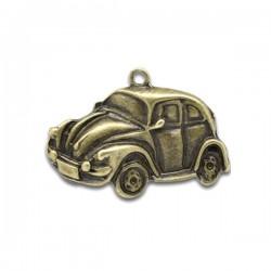 Breloque voiture coccinelle pendentif couleur bronze