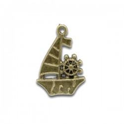 Breloque bateau voilier pendentif couleur bronze